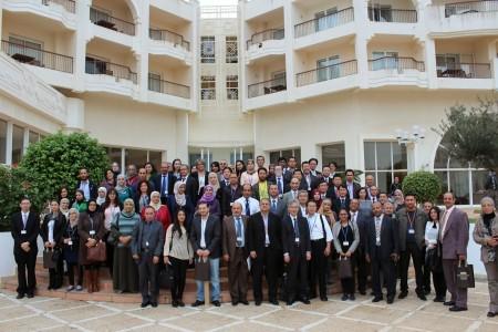 TJS2014の集合写真(EL-MOURADI HOTELにて)