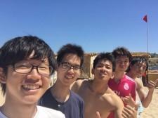 ビーチでの海水浴